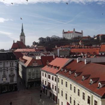 Castello di Bratislava e centro storico