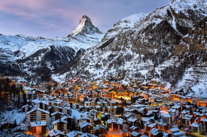 Nejlepší lyžařské střediska Zermatt